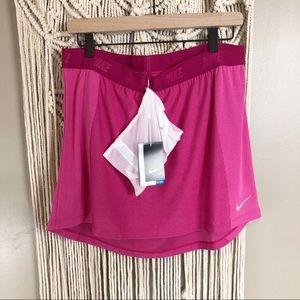 NWT Nike gold pink skirt with stuff bag large